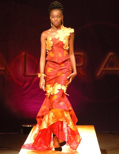 Nigeria hot style. Dress by Mudi Africa. Hair by Andy Best